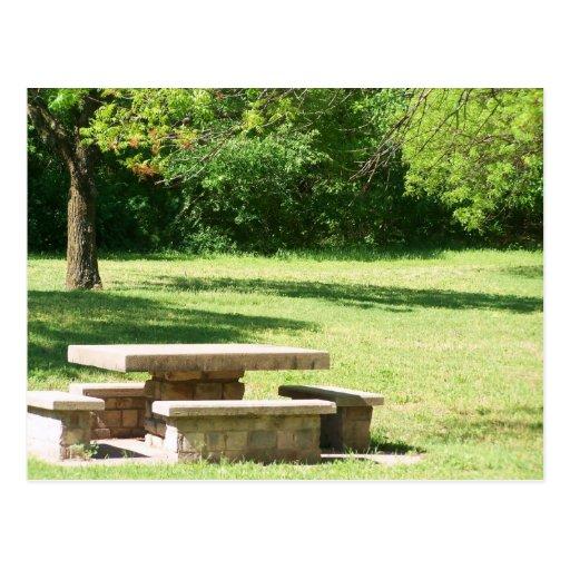 postal de la área de picnic
