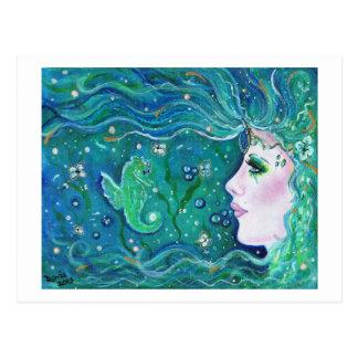 Postal de la armonía de la sirena de Renee Lavoie