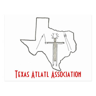 Postal de la asociación de Tejas Atlatl