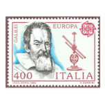 Postal de la astronomía de Galileo Galilei