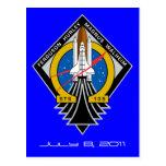 Postal de la Atlántida del transbordador espacial