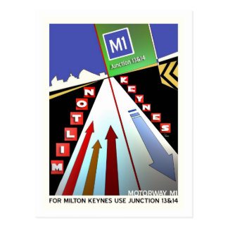 Postal de la autopista M1 Milton Keynes