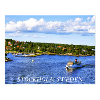 Postal de la bahía de Estocolmo