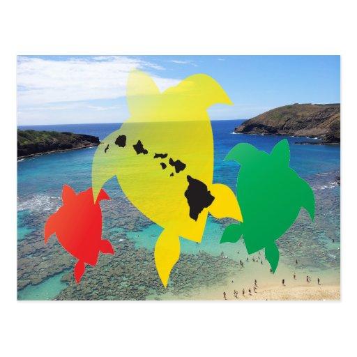 Postal de la bahía de Hawaii Hanauma