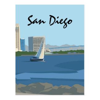 Postal de la bahía de San Diego