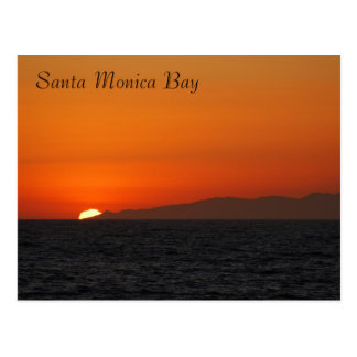 Postal de la bahía de Santa Mónica