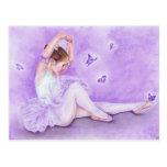 Postal de la bailarina de papillon del ballet
