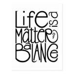 Postal de la balanza de la vida