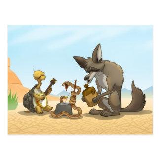 Postal de la banda de jarro del desierto