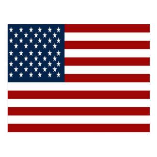 Postal de la bandera americana (50 estrellas)