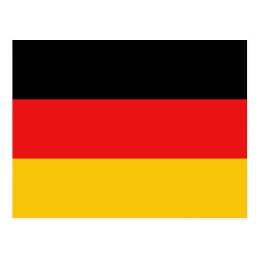 Postal de la bandera de Alemania