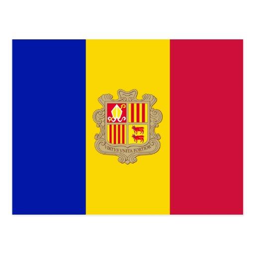 Postal de la bandera de Andorra