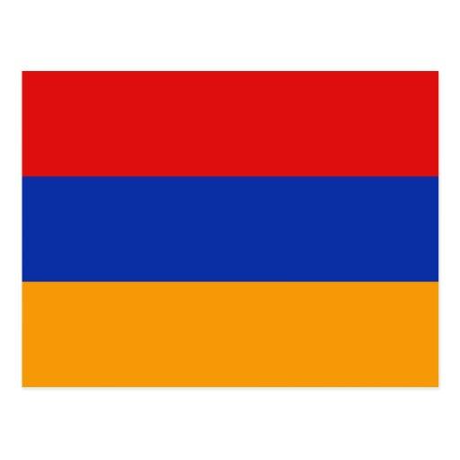 Postal de la bandera de Armenia