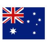 Postal de la bandera de Australia