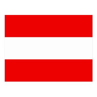 Postal de la bandera de Austria