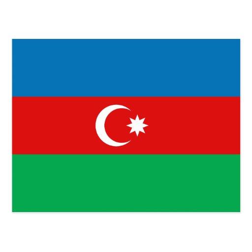 Postal de la bandera de Azerbaijan