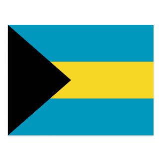 Postal de la bandera de Bahamas