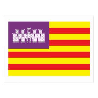 Postal de la bandera de Balearic Island