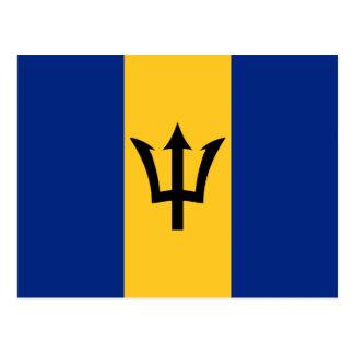 Postal de la bandera de Barbados