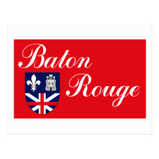 Postal de la bandera de Baton Rouge