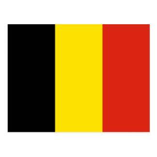 Postal de la bandera de Bélgica