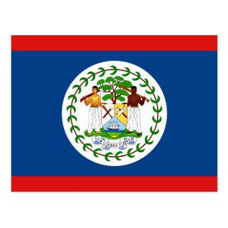Postal de la bandera de Belice