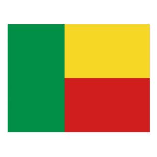 Postal de la bandera de Benin