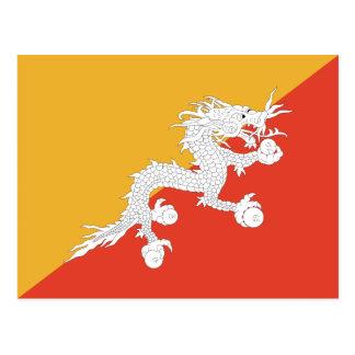 Postal de la bandera de Bhután