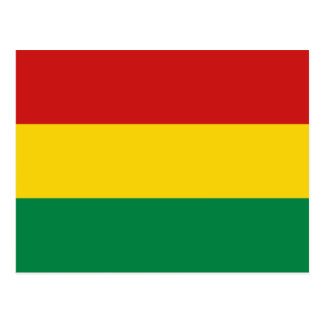 Postal de la bandera de Bolivia