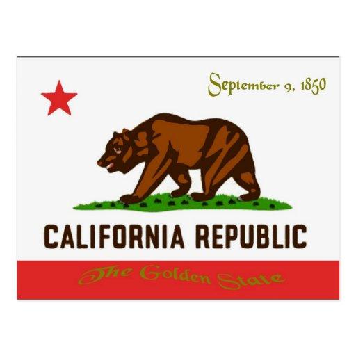 Postal de la bandera de California