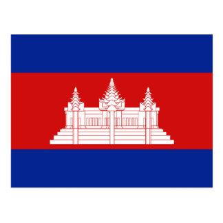 Postal de la bandera de Camboya