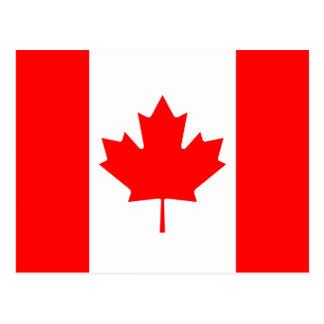 Postal de la bandera de Canadá