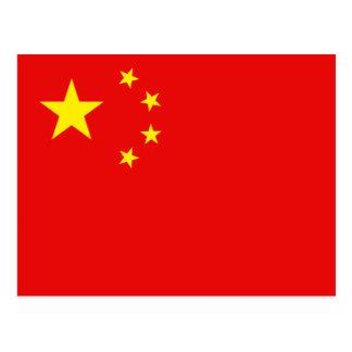 Postal de la bandera de China