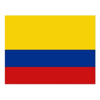 Postal de la bandera de Colombia