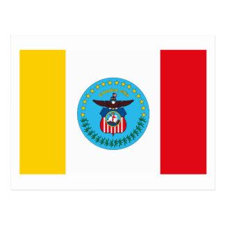 Postal de la bandera de Columbus Ohio