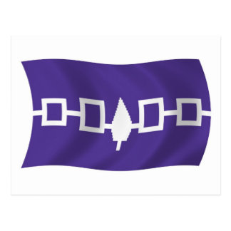 Postal de la bandera de Confederacy del Iroquois