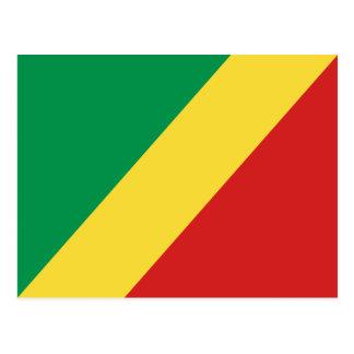 Postal de la bandera de Congo-Brazzaville