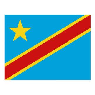 Postal de la bandera de Congo-Kinshasa