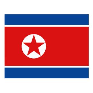 Postal de la bandera de Corea del Norte