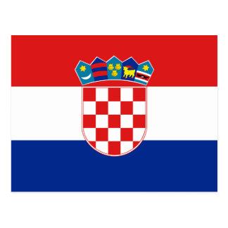 Postal de la bandera de Croacia