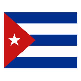 Postal de la bandera de Cuba