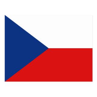 Postal de la bandera de Czechia