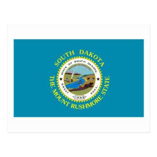 Postal de la bandera de Dakota del Sur