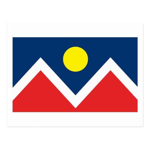 Postal de la bandera de Denver