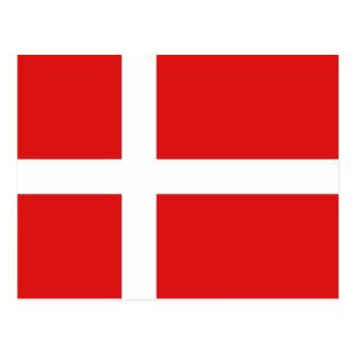 Postal de la bandera de Dinamarca