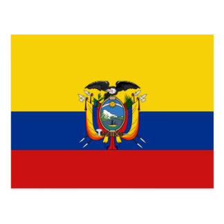 Postal de la bandera de Ecuador