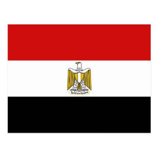 Postal de la bandera de Egipto