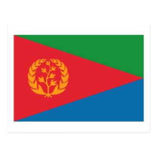 Postal de la bandera de Eritrea