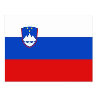 Postal de la bandera de Eslovenia