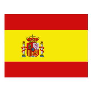 Postal de la bandera de España